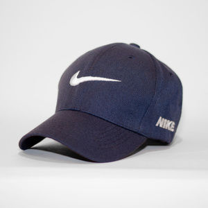 Nike Navy Blue Baseball Hat W/ Velcro Adjust